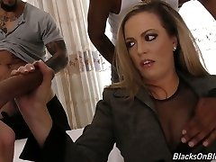 Whorey mommy Carmen Valentina is banged by several fellows of her son-in-law