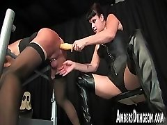 Strap-on, caboose dilling and tugging of helpless male