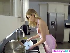 Enticing Haley Reed Attempts Anal Sex With Stepdad In Kitchen!