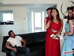 Quite buxom Latina sweetheart Melissa Moore swaps her partner for swinger fuck
