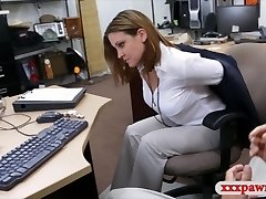 Foxy business woman fucked in interchange for a plane ticket