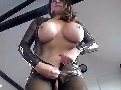 transparent spandex catsuit_2 dildo and vibratir fuck