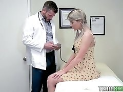 Pretty sweetie Vienna Rose is fucked by cool young gynecologist