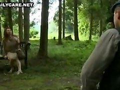 Bodacious Japanese mature gets hard outdoor fuck