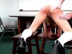 Chick gets hard spanking
