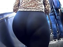 Nubile in see thru leggings panties