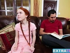 Dolly Little gets her lil puss wrecked by her friends father