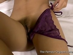 Hot MILF with Milking Nips Rubs Wet Pussy to Orgasm