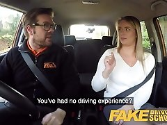 Fake Driving School Czech babe Nikky Dream ejaculations