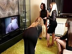 Lesbian Party With Four Girls
