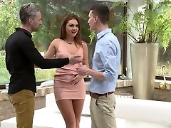 Lusty slender woman Mila A gets poked doggy before ruinous double foray