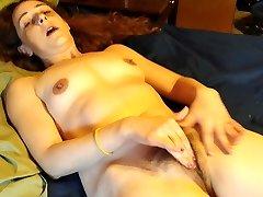 Wife wanking to orgasm