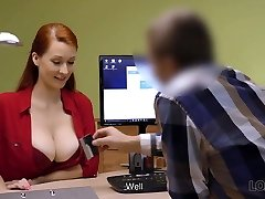LOAN4K. Red-haired woman with awesome curves needs...