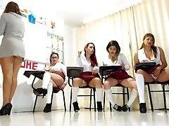 Schoolgirls at web cam show 4