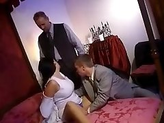 Double intrusion in front of her spouse