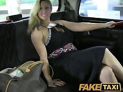 FakeTaxi Cock hungry ginormous boobed MILF fucking her cab driver