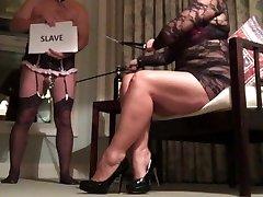 Femdom Sissy Cuckold Helps MILF Advertise for Big Black Cock Fun