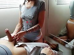 The hottest and longer hand job, two cum shots and ball busting - Natali Fiction