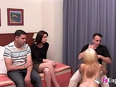 Their first-ever swinger practice with only 18yo