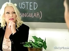 Milf principal fucks a teacher