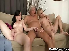 His mom toying while dad tearing up his Girlfriend