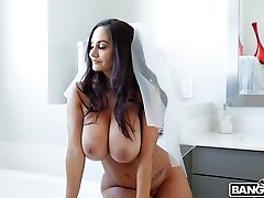 French bride Ava Addams is hotwife on her future husband with his finest stud