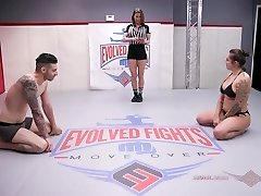 Handsome Latina Tori Avano wrestles Billy Boston to the conclude