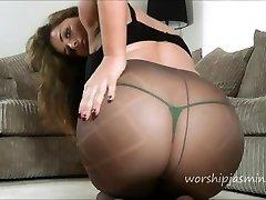 Pantyhose tease big butt