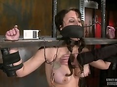 Girl Machine Smashed Shocked And Gagged
