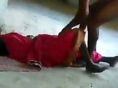 Indian pummeling a homeless women in an abandoned palace