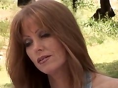 Sexy redhead Cougar fucked outdoors