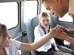 Three-way in schoolbus