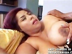 Giant Bhangra Butt Oriental Paki Chick loves Big West Indies Bamboo Meatpipe