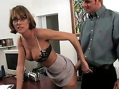 Fresh brunette Saskia with large natural tits tearing up rock-hard