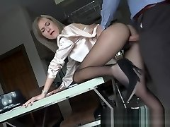 Seamless Tights sex with spunk on feet