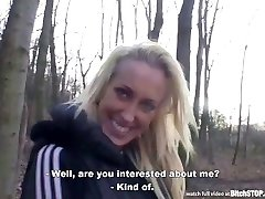 Bitch STOP - Athletic blonde get boinked in the park