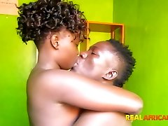 REAL - African boy and damsel fuck very first time