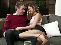 Beautiful babe Nina North is having romantic fuck-a-thon with her boyfriend