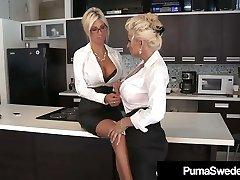 Office Fucksluts Puma Swede & Bobbi Eden Eat Sweet CoWorker Cootchie