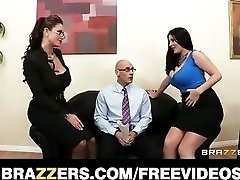 Johnny Sins shared by Eva Notty and Sophie Dee