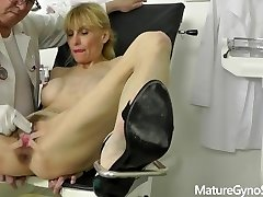 Freaky ob-gyn doctor records his mature woman patient on hidden camera