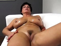 Cute ma greases up and fucks Jane from dates25com