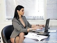 Wonderful chief bitches turn office perv into nylon stockings worship and foot slave cockslut