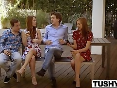 TUSHY First Double Invasion For Redhead Kimberly Brix