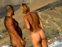 Stunning tanned honies are all over that nudist beach