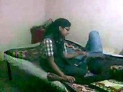 Indian Schoolgirl Vaishali Tearing Up with her boyfriend