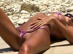 Micro sling bikini showing off 2