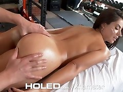 HOLED Gym interrupted anal cascading creampie for Jynx Maze