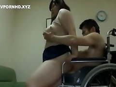 Chubby Japanese Mom Please Handicapped Son lust