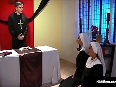 Penthouse Pet Nikki Benz & Jessica Jaymes Humped As Nuns!